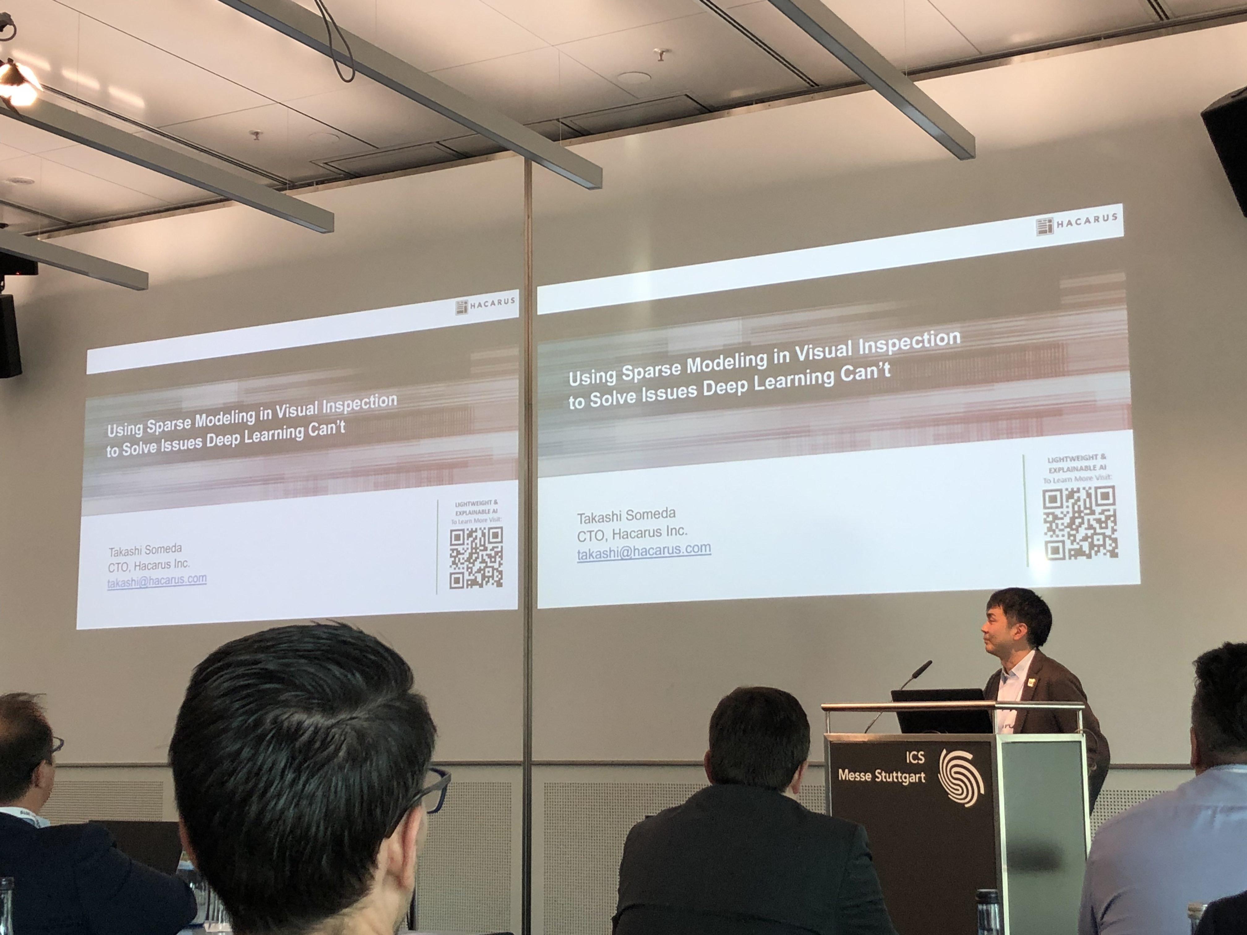 Hacarus CTO Takashi Someda Speaking At Embedded Vision Europe 2019