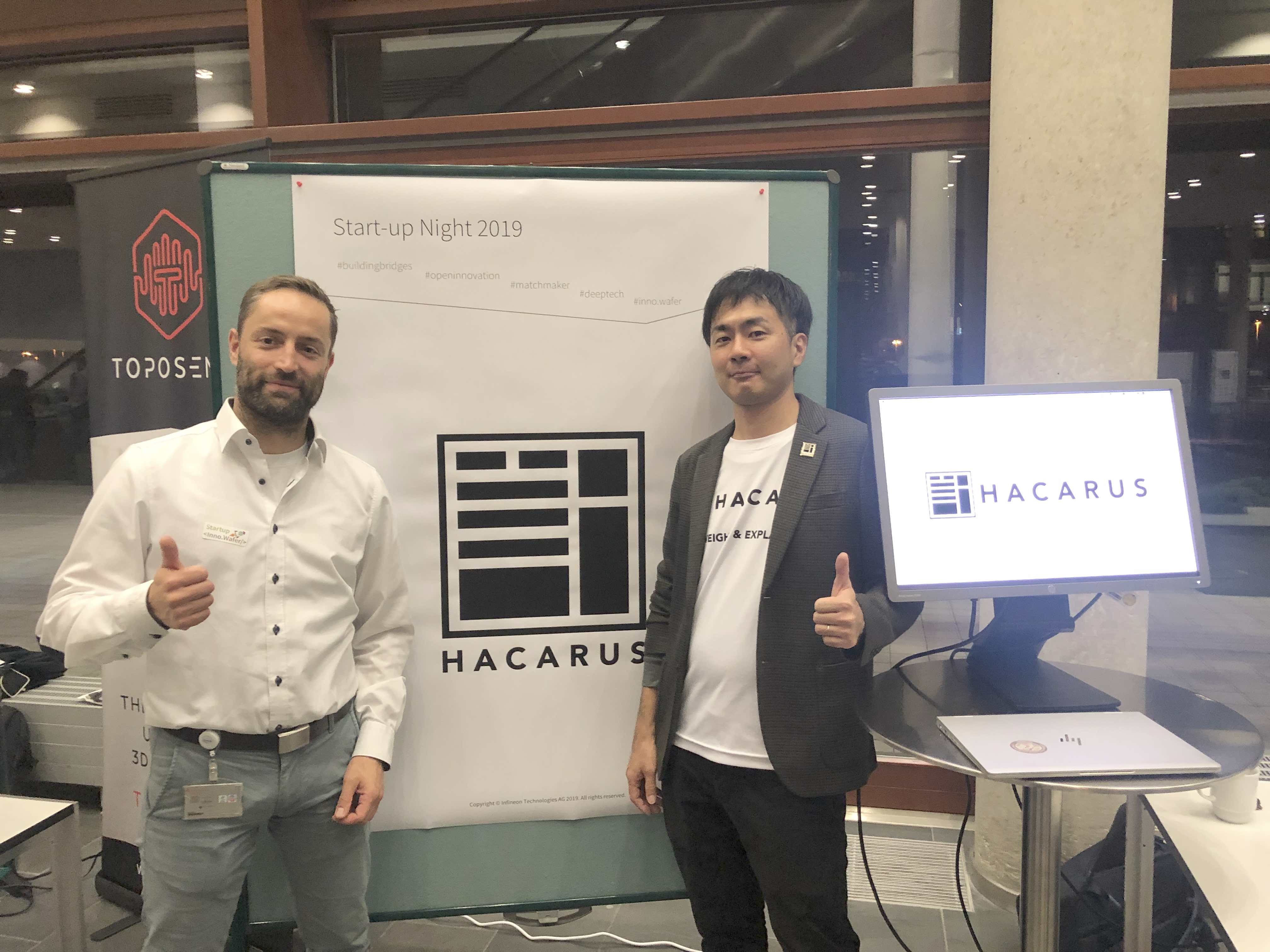 Hacarus @ Infineon Innovation Week – Start-Up Night 2019