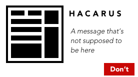 Hacarus logo - dont add messages