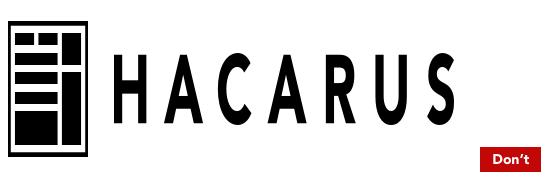 Hacarus logo - don't change icon