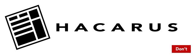 Hacarus logo - dont rotate stretch tilt