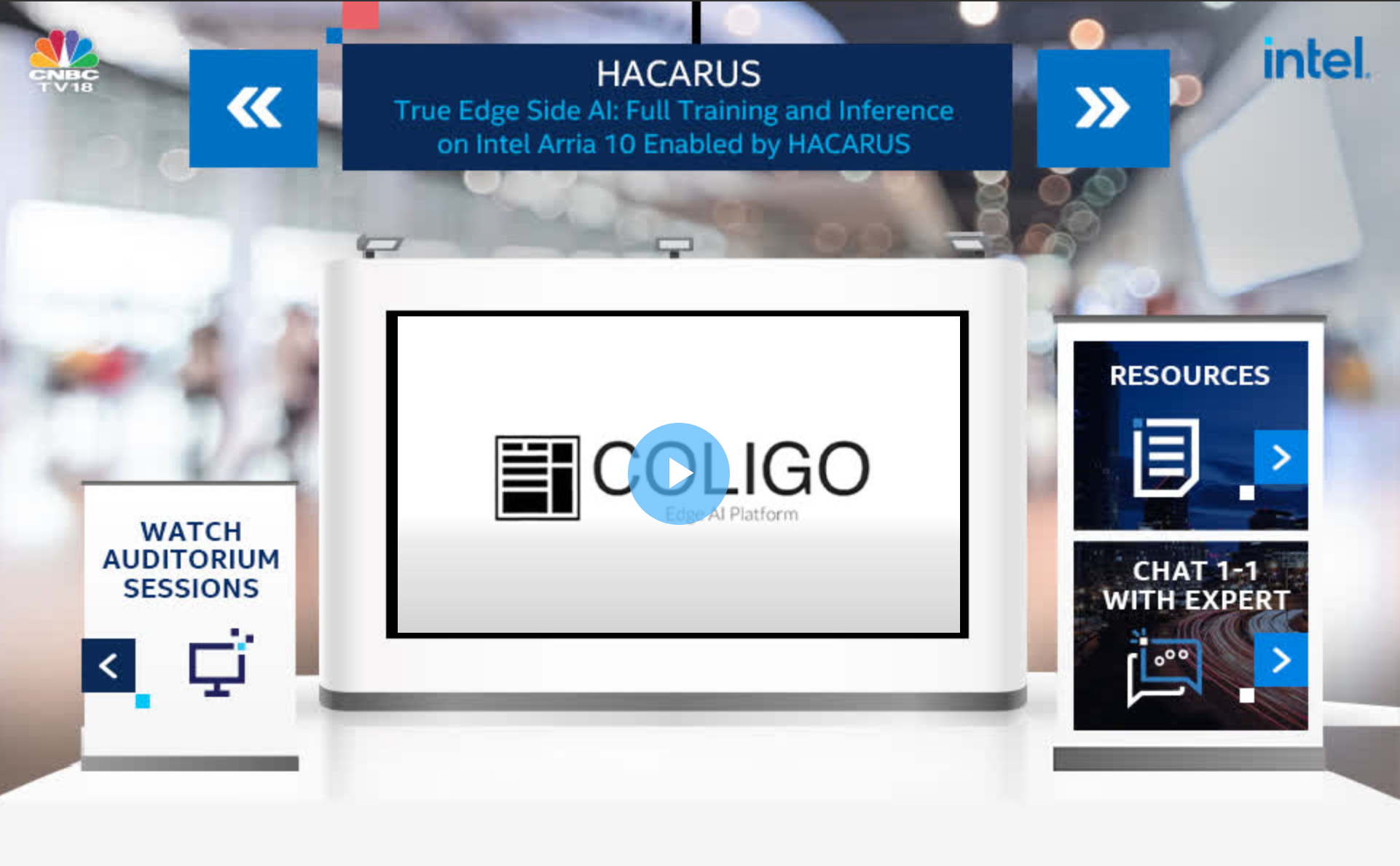 HACARUS Exhibits At Event By Intel